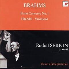Brahms: Piano Concerto No. 1; Haendel Variations