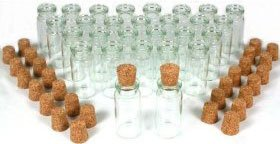 "CLEAR, GLASS BOTTLES, GLASS BOTTLE, BOTTLES, GLASS, MINI, BOTTLE, STORAGE BOTTLES, MINI BOTTLE, 50, NEW, SMALL, MINI BOTTLES, with, CORKS, LITTLE, VIALS, are 1-7/16"" TALL x 1/2"" ACROSS, Great, The possibilities are unlimited, SHADE, SHADES, UPC 609722846585"