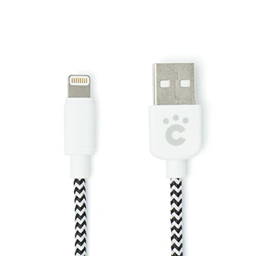 cheero Fabric braided USB Cable with Lightning 100cm [ Apple社のMFi 認証取得済み ] 充電 / データ転送 ケーブル iPhone 6s / 6s Plus / 6 / 6 Plus / iPhone 5s / iPhone 5c / iPhone 5/ iPad / iPad mini / iPad Air / iPod nano / iPod touch 対応 高耐久性 ライトニング