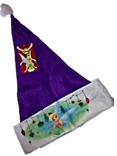 "Disney Fairies Tinkerbell Felt Santa Hat 16"" - 1"