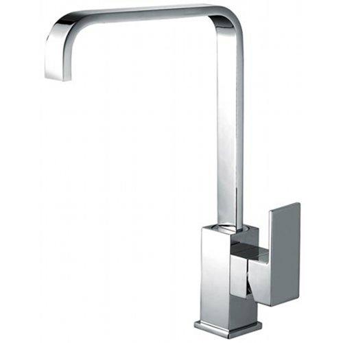 Italian Designer Square Kitchen Sink Mixer Taps Chrome Solid Brass New MILAN