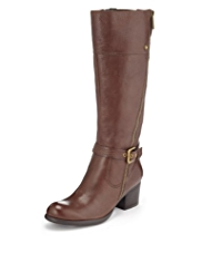 Autograph Leather Outside Zip Boots with Insolia® and Stretch Zip