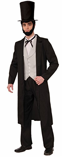 Forum Novelties Men's Deluxe Abraham Lincoln Costume Standard Black and White