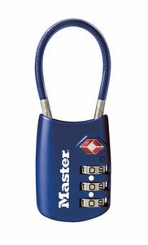 Master Lock 4688D TSA Accepted Cable Luggage Lock in Assorte
