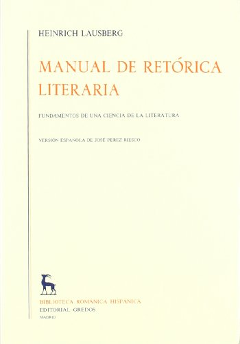 Manual De Retórica Literaria - Volumen 2 (VARIOS GREDOS)