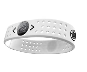 Power Balance Bracelet en silicone Evolution Blanc blanc xs