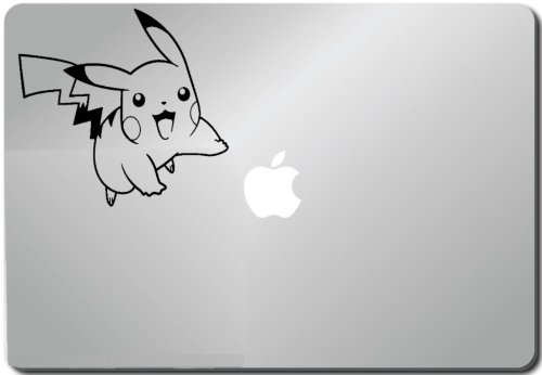 Flying Pikachu Pokemon Computer Skin Apple Sticker Laptop Sticker Macbook Decal Computer Sticker Macbook 13 Inch Vinyl Decal Sticker Skin Cover Computer Sticker Computer Decal Decal Mac Decal for Mac Laptop Sticker Laptop Decal Newest Version Macbook Pro Laptop Quotes
