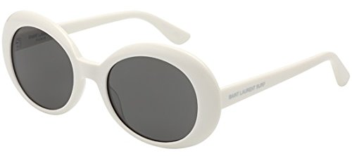 Saint Laurent - CALIFORNIA SL 98 SURF, Rotondo, acetato, donna, WHITE/GREY(003 J), 54/0/0