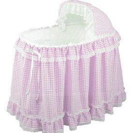 Gingham Bassinet Set - Color: Pink front-972762