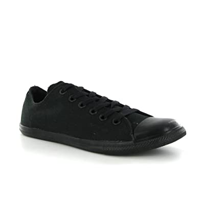 a9c3a05a83 Converse Chuck Taylor Slim Ox Black Mens Trainers - Converse Shoes