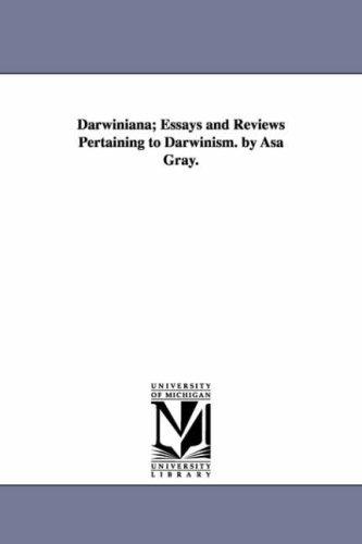 Darwiniana essays and reviews pertaining to darwinism
