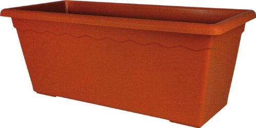 Vaso rettangolare maxi in polipropilene 80x39x34h cm for Vasi rettangolari plastica
