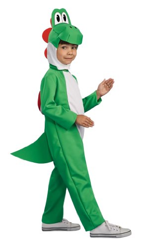 Yoshi from Super Mario Video Game Child Deluxe Lizard Costume (Youth Small 4-6)