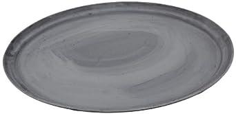 "Carlisle 2500GR004 Fiberglass Griptite Oval Tray,  24 x 19.25 x 1.18"", Black"