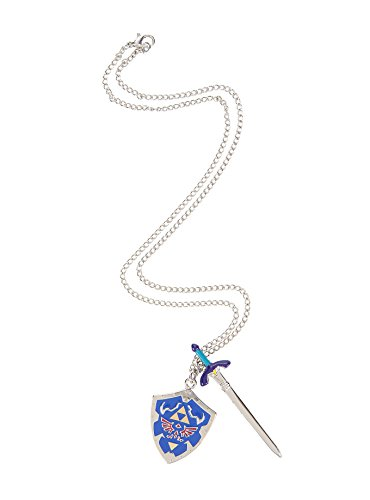 Legend of Zelda Hylian Sword and Shield Necklace