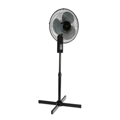 Boston 16 Inch Pedestal Fan, Metal, Black (25974)