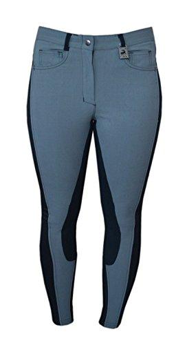 Pantaloni da equitazione da donna Luxana steel