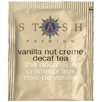 Stash Tea Decaffeinated Tea Blends Vanilla Nut Creme 18 foil tea bags (a)