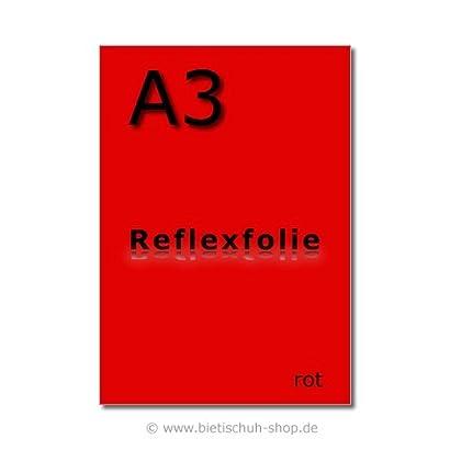 orange Orafol Reflexfolie A3 selbstklebend reflektierend