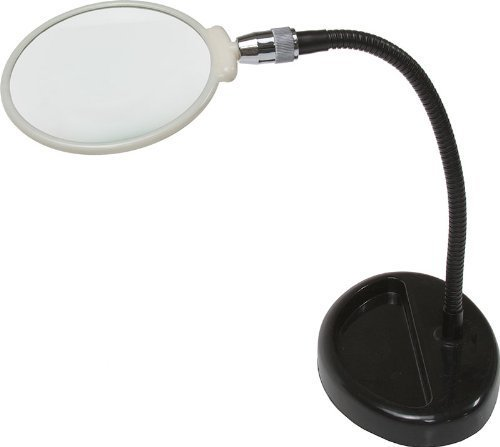 Nippon Labs STK-MC205 Table Magnifier, 13-Inch Flexible Neck, Glass Lens - 1