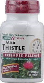 Milk Thistle Extract 500Mg Time Release Nature'S Plus 30 Sustained Release Table