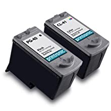 Canon CL-41 & PG-40 Remanufactured Combo Set of Ink Cartridges