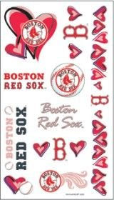 Boston Red Sox Girly Temporary Tattoos