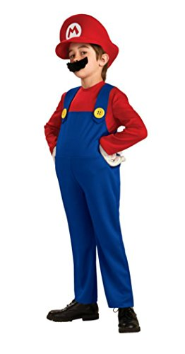 Boys Super Mario Deluxe Kids Child Fancy Dress Party Halloween Costume