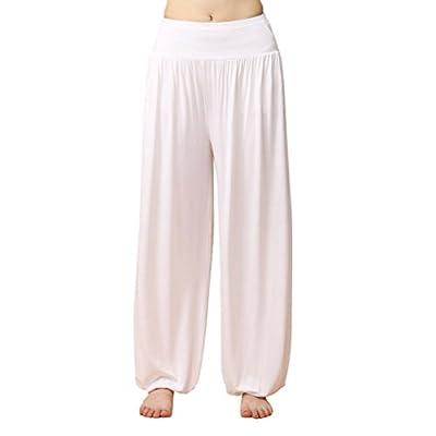 LIANTANG Womens Soft Elastic Waistband Fitness Yoga Herem Pants