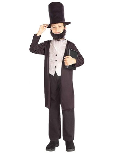 Kids-Costume Abraham Lincoln Child Costume 8-10 Halloween Costume