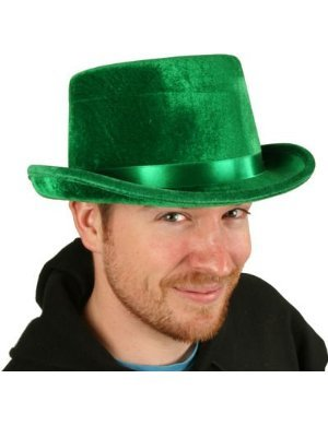 Adult Green Top Hat Great for Elf or Leprechaun Costume!