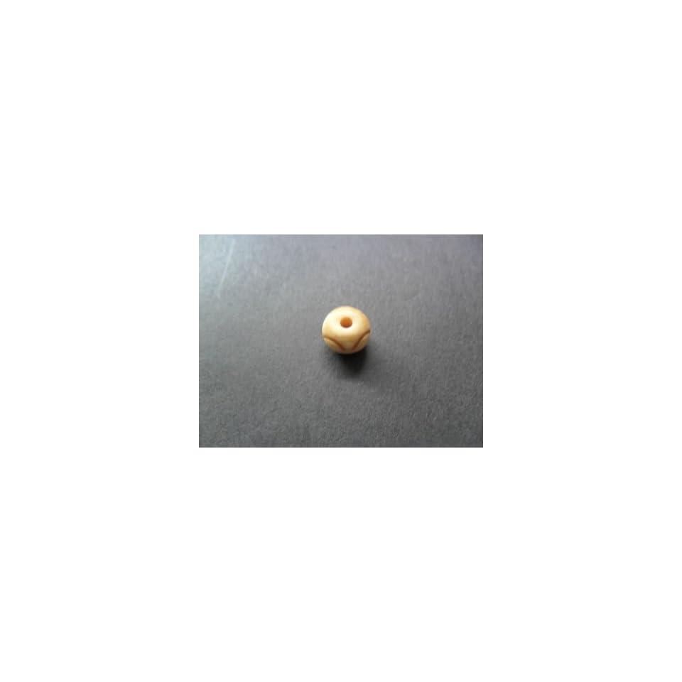 20  pc jewelry making craft White Bone Beads Plain 031 37x6 mm.