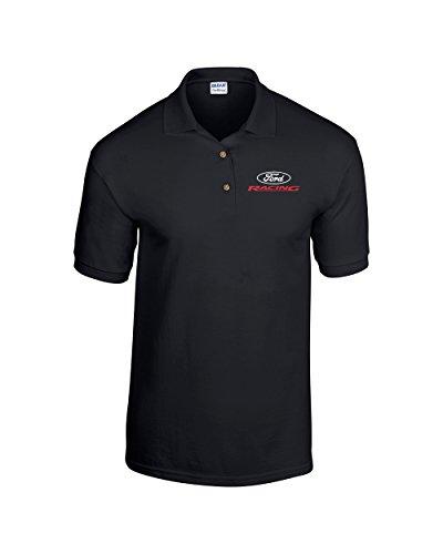 Ford Racing Golf Shirt Polo -Black-large