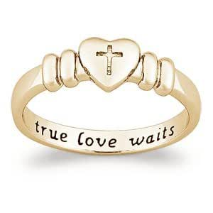 Amazon.com: 18K Gold over Sterling True Love Waits Purity ...