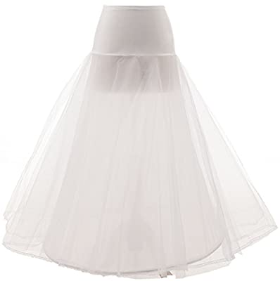 Changjie Women's a Line Floor Length Wedding Dress Underskirt Petticoats Slips