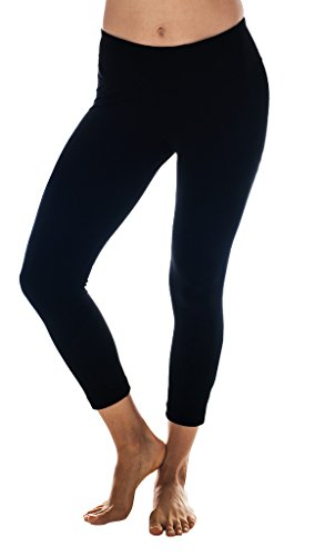 90 Degree By Reflex Yoga Capris - Yoga Capris for Women - Hidden Pocket, large, Black (Yoga Womens Pants compare prices)
