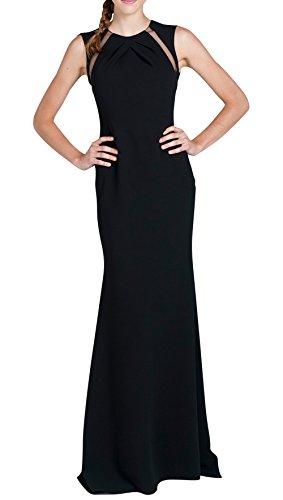 Dapene® Women'S Jewel Sheer Back Sleeveless Maxi Formal Dress Black Us 10