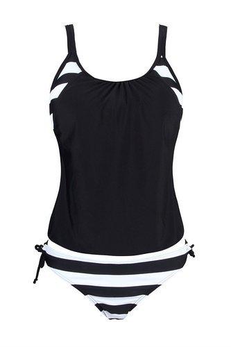 #Ninimour #Damen #Tankini #Bikini #Set #Streifen zweiteilig #Badeanzug #Swimsuit