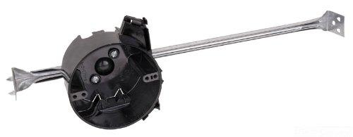 Carlon N-423-C-95-V Ceiling Fan/Fixture Box, Round, New Work, 4-Inch Diameter By 2-1/2-Inch Depth, Black