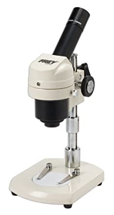 Frey Scientific Stereo Microscope with Adjustable Height, Monocular Head, 20X Magnification