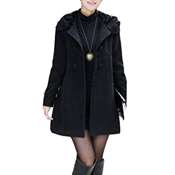 7e4af6b8cde Cheap Check Price OL Women Double Breasted Fleece Tweeds JacketSlim Fit  Long Trench Coat