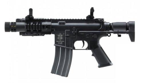 Vfc M4Es Stinger Electric Airsoft Full Metal Gun Compact Stubby M4 Cqb E-Series Fps-300 W/ High Cap. Magazine, External Peq Box