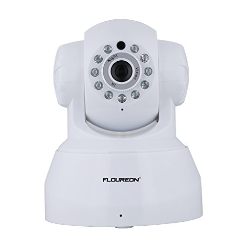 FLOUREON Wireless IP Camera 720P HD Home Surveillance Security Indoor Camera Two Way Audio Baby Monitor Support Night Vision/Motion Detection (White)
