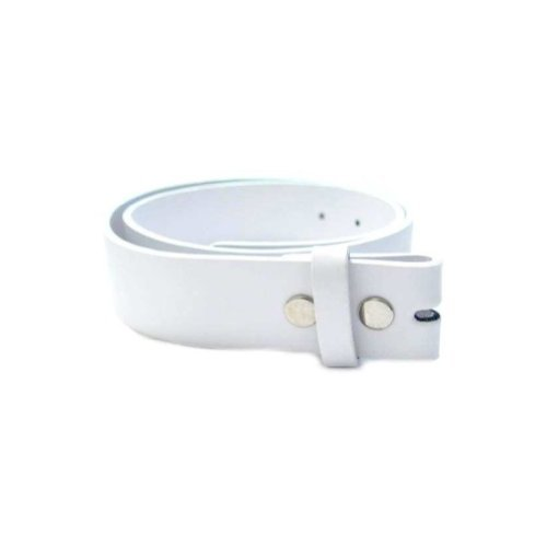All Color Leather Belt For All Buckles, MEDIUM, WHITE