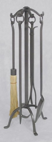MISSION CRAFTSMAN Fireplace Hearth Woodstove Tool Set - VINTAGE IRON