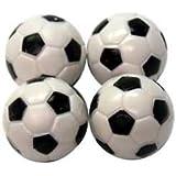 Regent-Halex Replacement Foosballs (Pack of 4), Black/White, Small