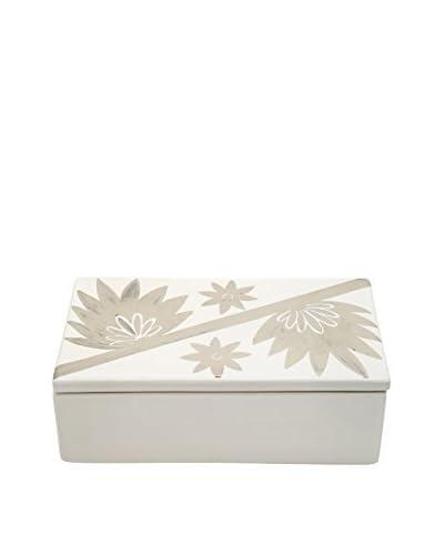 Waylande Gregory Pompom Oblong Box, White