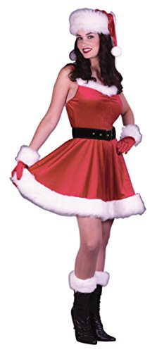 Funworld Womens Christmas Holiday Santa Ms Baby Theme Party Halloween Costume