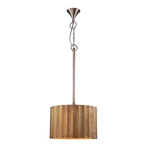 Lazy Susan Medium Brass Clad Ribbed Pendant