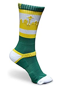 Strideline SEATOWN Green Sonics Athletic Crew Socks, One Size